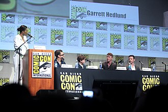Pan (2015 film) - The cast and crew of Pan at the 2015 San Diego Comic-Con to promote the film.
