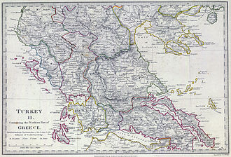 Sanjak of Ioannina - Ottoman Greece with the Sanjak of Ioannina in the early 19th century