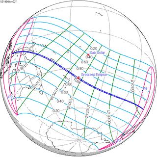 Solar Eclipse Of November 22 1984 Wikipedia