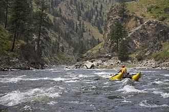 South Fork Salmon River - Rafters on the South Fork Salmon River