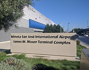 San Jose International Airport - The James M. Nissen Terminal Complex, spanning the space between terminals A and B