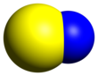 Spacefill model of mononitrogen monosulfide