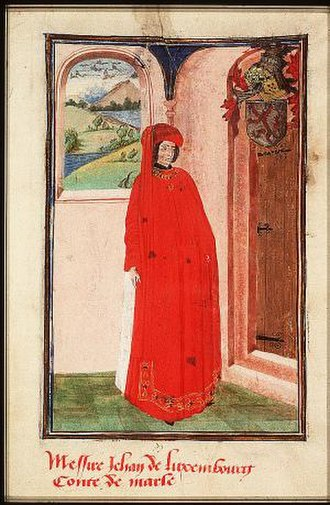 John of Luxembourg, Count of Soissons - John of Luxembourg in the Armory of the Order of the Golden Fleece