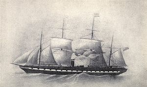 Antony Gibbs & Sons -  Great Britain in 1853, after her refit to four masts