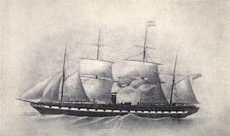 William Gibbs (businessman) - SS Great Britain in 1853, after her refit to four masts