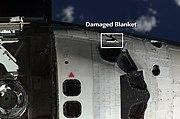 STS-114 damaged blanket
