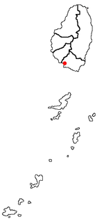 Kingstown, Saint Vincent and the Grenadines Location Map