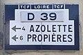 Saint-Germain-la-Montagne - Plaque kilométrique TCF.jpg