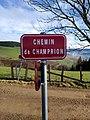 Saint-Just-d'Avray - Chemin de Champrion - Plaque (janv 2019).jpg