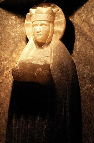 Wieliczka Salt Mine - St Barbara's statue