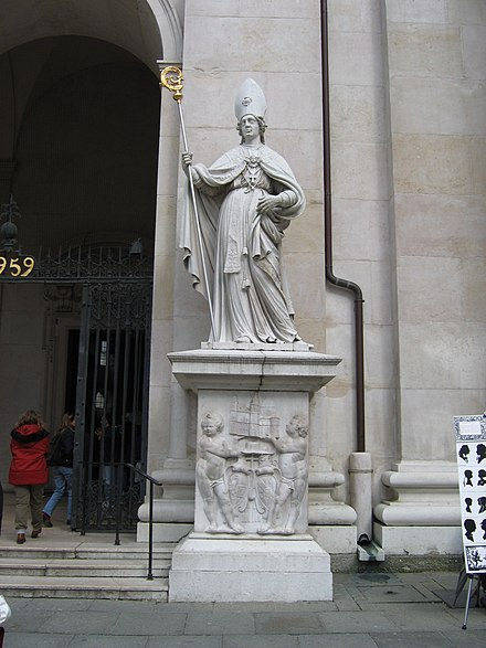 St. Feargal, left Ossory to become bishop of Salzburg, Austria. Saint Virgilius, Salzburg.jpg