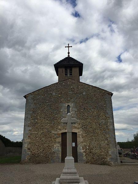 Image du village de Sainte-Olive, dans l'Ain, en France.