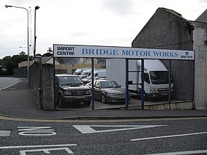 English: Sales Yard, Bridge Street Flack's Car...