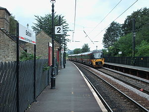 Saltaire railway station - Image: Saltaire station p 2