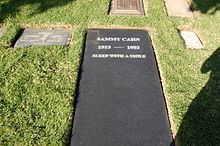 Sammy Cahn grave at Westwood Village Memorial Park Cemetery in Brentwood, California.JPG