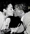 Sammy Davis Jr. and his mother at Grace's Little Belmont
