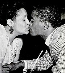 Sammy Davis, Jr. and mother at Grace's Little Belmont 1954.jpg