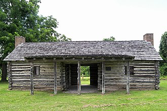 Samuel May Williams - Replica log cabin at San Felipe de Austin Historic Site