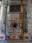 San vitale, ravenna, int., monumento funebre 02 con rilievo romano del trono di nettuno.JPG