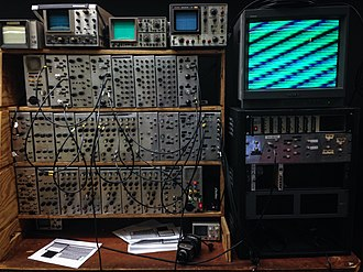 VJing - Sandin Image Processor, exhibited at School of the Art Institute of Chicago (SAIC)