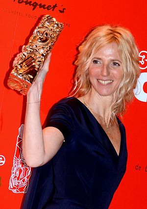 39th César Awards - Sandrine Kiberlain, star of 9 Month Stretch, won the César Award for Best Actress.