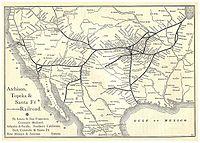 Santa Fe Route Map 1891
