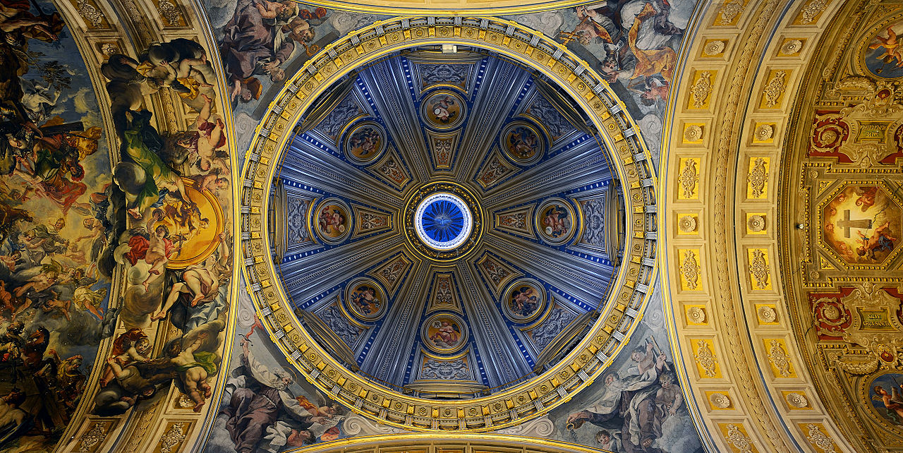Santa Maria in Traspontina (Rome) - Dome and ceiling.jpg