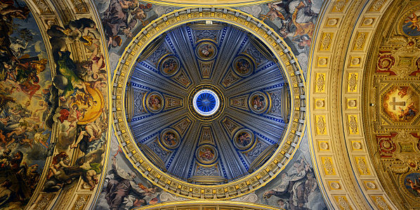 Santa Maria in Traspontina (Rome) - Dome and ceiling