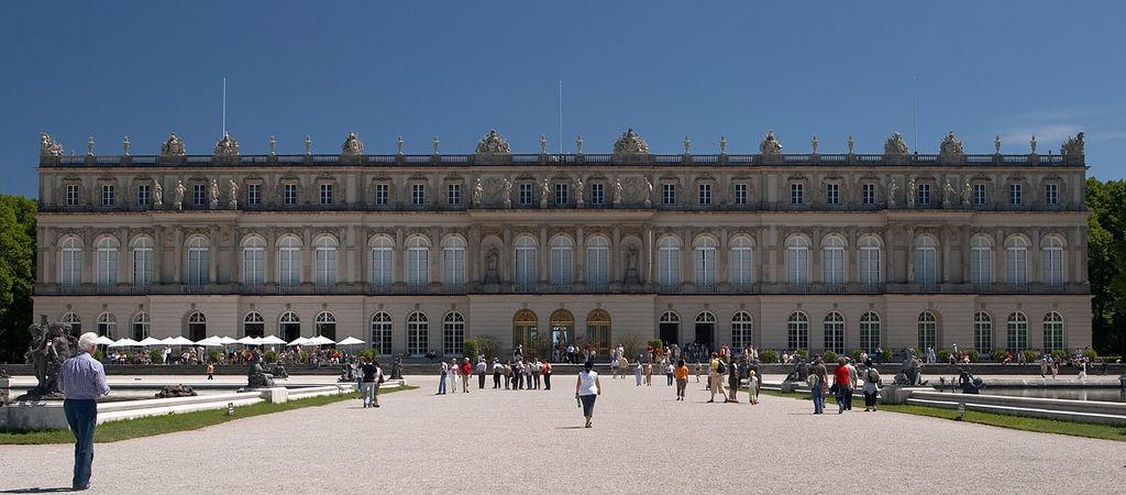 Pałac Herrenchiemsee od strony od ogrodu