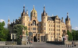 Schwerin Castle, seat of the state parliament