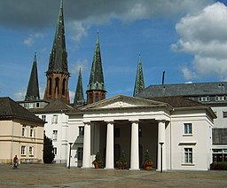 Description: Guardian House and Lamberti-Church in Oldenburg, Germany Date: June 2005 Photographer: Marvins21
