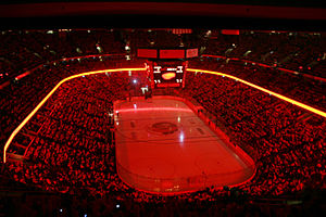 Canadian Tire Centre - Interior of the arena before a 2006 Ottawa Senators playoff game.