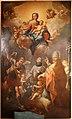 Scuola fiorentina, madonna in gloria col bambino e i ss. michele, luigi gonzaga e un papa, 1700-50 ca.jpg