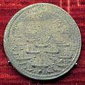 Scuola romana, medaglia di pio V, battaglia di lepanto, 1571, argento.JPG