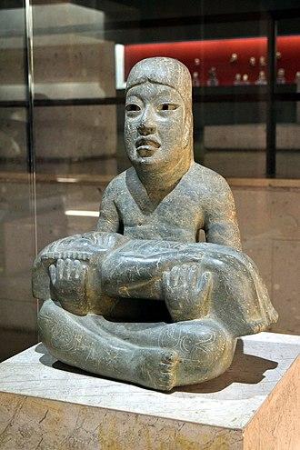 Greenstone (archaeology) - El Señor de las Limas, the largest known Greenstone sculpture, Xalapa Museum