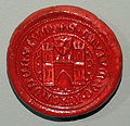 Seal of Náchod town from 14. century 02.jpg