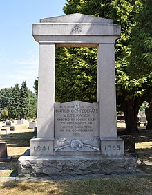 Seattle - Lake View Cemetery - Confederate Veterans memorial.jpg