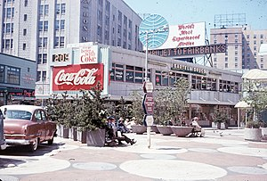 Bartell Drugs - This Bartell drug store stood for many years at the corner of Fourth and Pine in Downtown Seattle, now the site of Westlake Park.