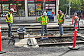 Seattle - laying trolley tracks on Broadway at Pine 20.jpg
