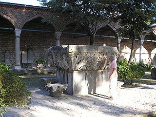 Column of Leo Roman triumphal column in Constantinople (Istanbul, Turkey)