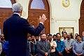 Secretary Kerry Addresses Employees Working at the U.S. Embassy Muscat (22798780238).jpg