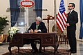 Secretary Kerry Signs Guest Book at Indonesian Ministry of Foreign Affairs (12579518885).jpg