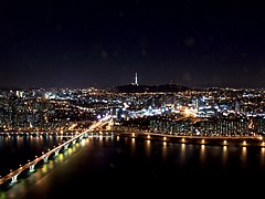 Seoul at night from 63 building