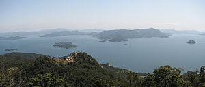 Seto Inland Sea - View of the Seto Inland Sea from Miyajima island