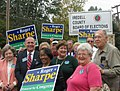 Sharpe supporters vote early (427478692).jpg