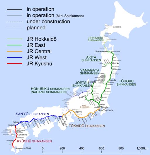 Shinkansen map 20110312 en