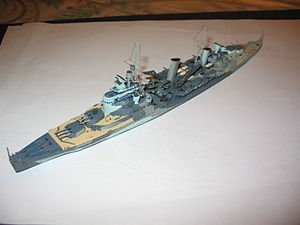 El HMS Belfast en escala 1:700