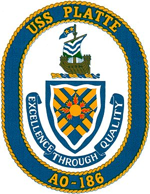 USS Platte (AO-186) - Image: Ships seal decal cropped