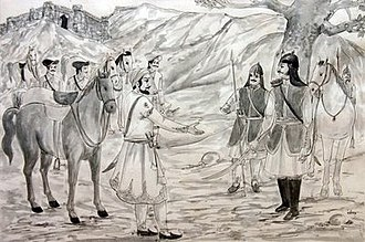 Panna State - Chhatrasal, the founder of Panna State, together with Maratha leader Shivaji.