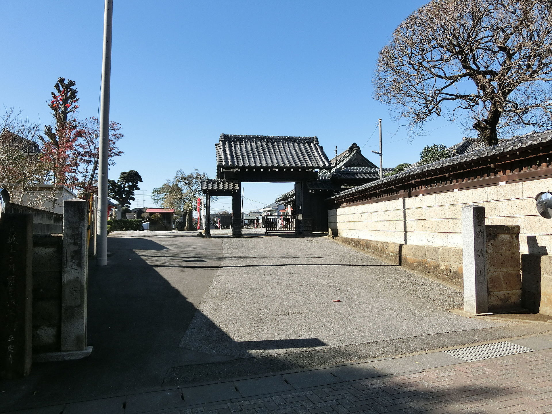 正定寺 (古河市下大野) - Wikipedia